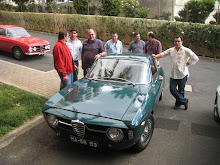 Alfista Adalberto Melim na Madeira com alguns elementos da Squadra Alfa Romeo Madeira