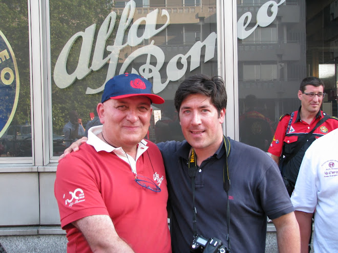 Maurizio Monti - Squadra Automobilismo Storico Alfa  Romeo e piloto  e Marco Pestana