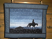 Cowboy Christmas wall hanging