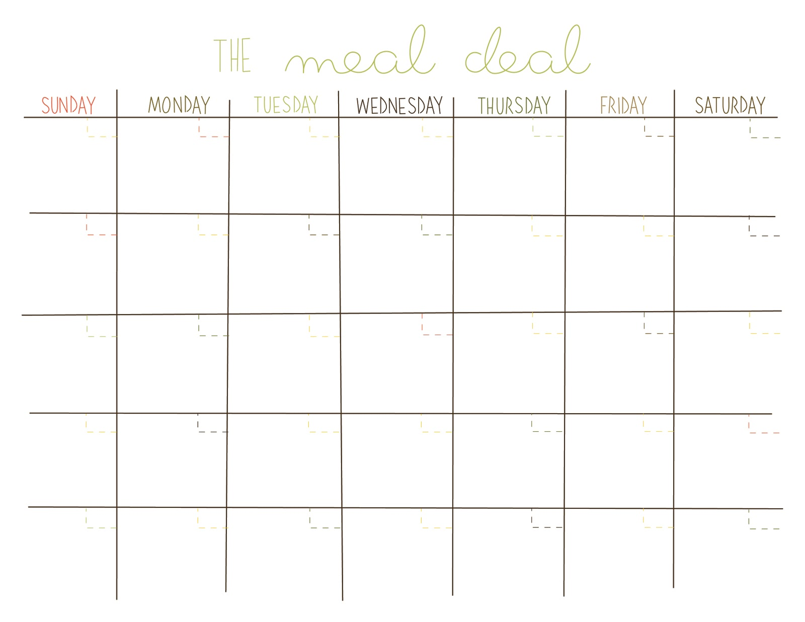 homeseed: real simple recipes & \'the meal deal\' calendar (free ...