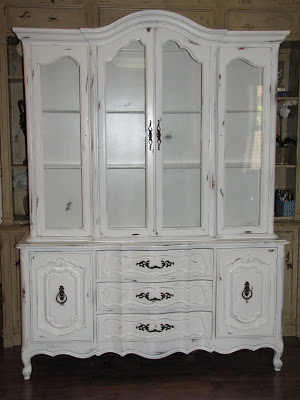 dusty gem decor shabby chic china cabinet. Black Bedroom Furniture Sets. Home Design Ideas