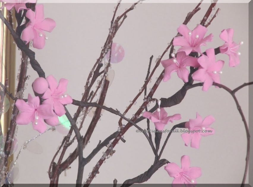 Cherry Blossom Craft Bottle Painting