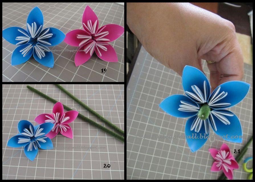 Цветы из трубочек бумаги своими руками 79