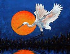 Full Moon Egret