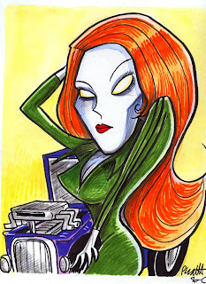Redhead Zombie Hotrod Vixen, Monstersbymail.com