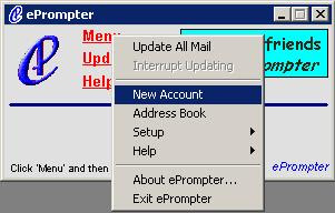ePrompter add account