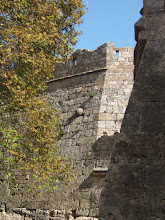 Turkish catapult stone embedded in wall