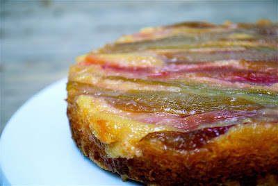 Blue Ridge Baker: Rhubarb Upside Down Cake for My Dad's Birthday