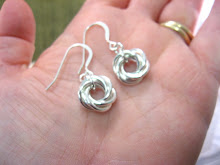 Large Silver Love Knots