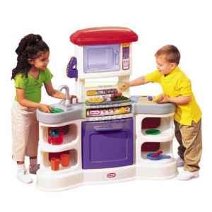 Mybundletoys little tikes gourmet kitchen for Playskool kitchen set