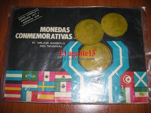 MONEDAS MUNDIAL78 SERIE COMPLETA.