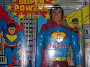"""SUPERMAN , MUÑECO DE 11"""" DE PLASTICO SOPLADO Y CABEZA DE GOMA"""