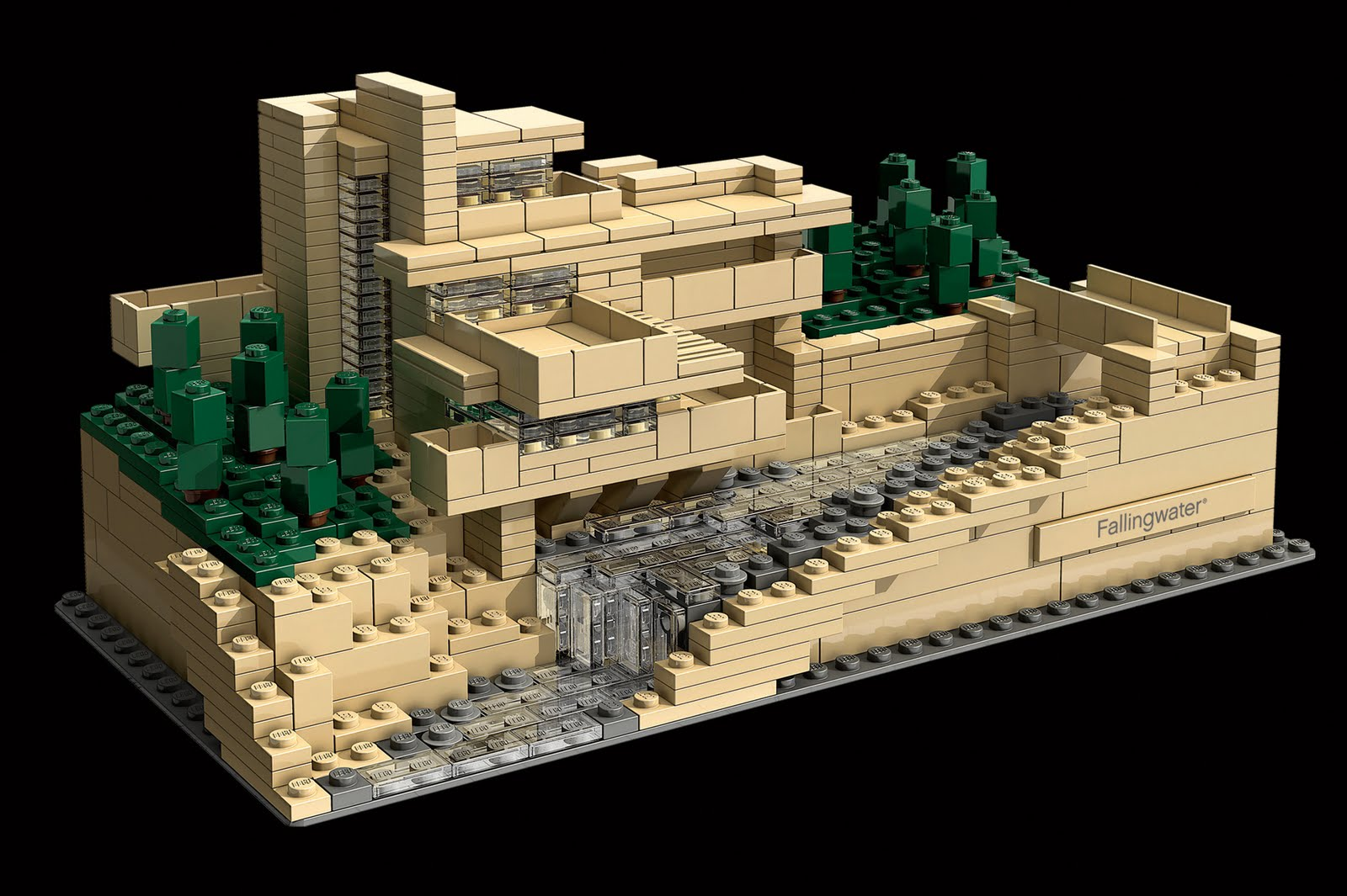 Lego architecture - Lego falling waters ...