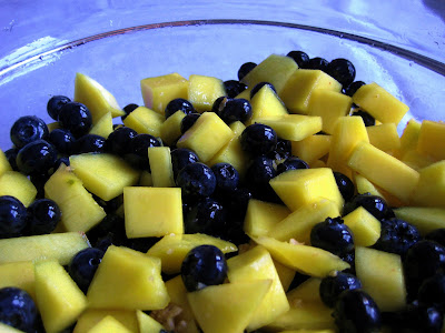 Mango, Blueberry and Ginger Fruit Salad
