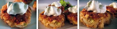 Salmon Cakes with Lemon-y Tzatziki