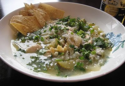 Tomatillo Tortilla Soup