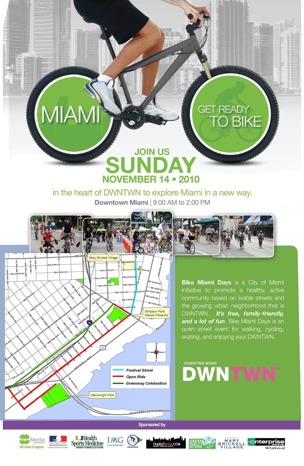 Bike Miami Days Bike Miami Days Returns to
