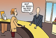 idenity theft cartoon