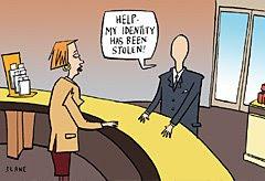 idenity theft cartoon
