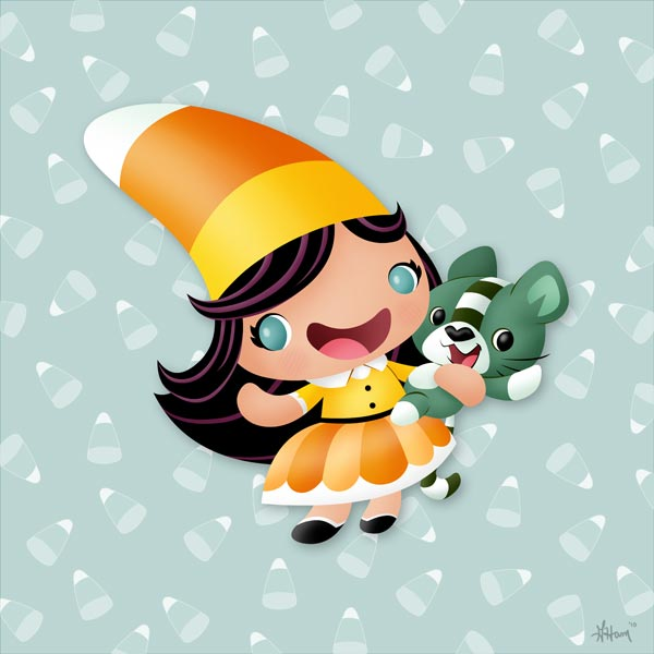 candy corn girl. Candy Corn Girl and Friend