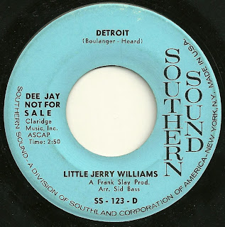 Little Jerry Williams - Detroit - 1965 Kingsize Nicotine Blues
