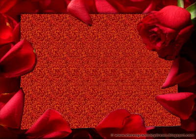 Stereogram: Declaration of love. «I Love You»