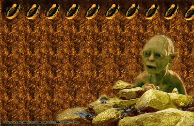 Magic eye: The Lord of the Rings. Gollum