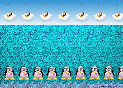 Magic eye:Enamoured penguins