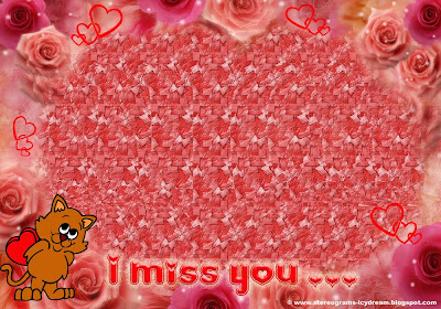 Original Stereogram -Card: «I Miss You …»