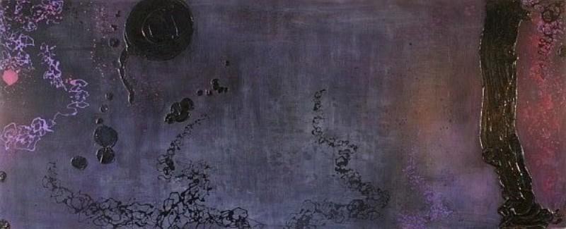 ''Nuits mauves sur la rivière'' (Collection privée)