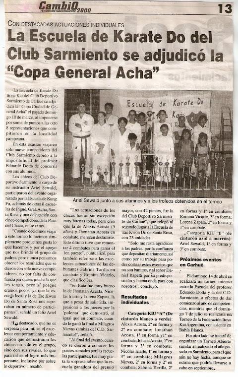 ABIERTO DE GENERAL ACHA  - 10/03/2002