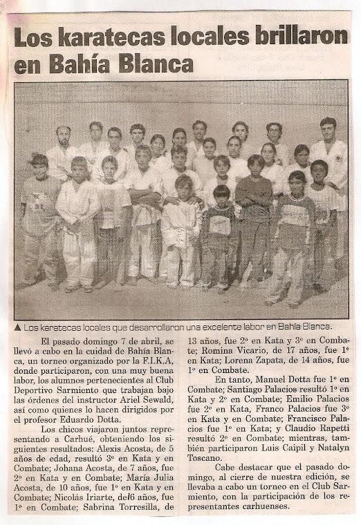 Torneo de Karate Do Itosu Kai - Bahia Blanca 07/04/2002