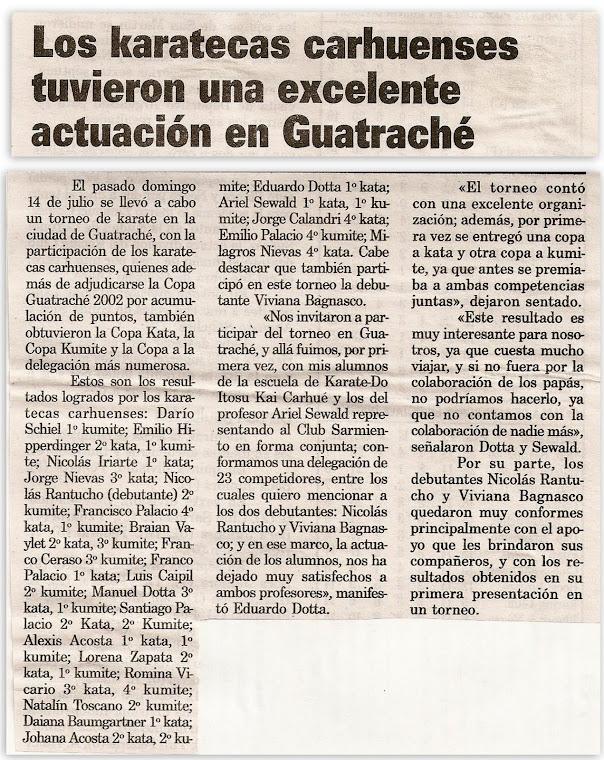 ABIERTO DE ARTES MARCIALES COPA GUATRACHE 14/07/2002