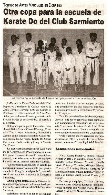 ABIERTO DE CORONEL DORREGO - 06/10/2002