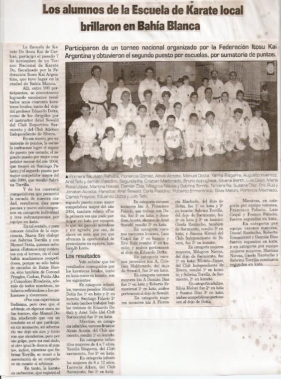 TORNEO NACIONAL DE LA F.I.K.A. BAHIA BLANCA 07/11/2004