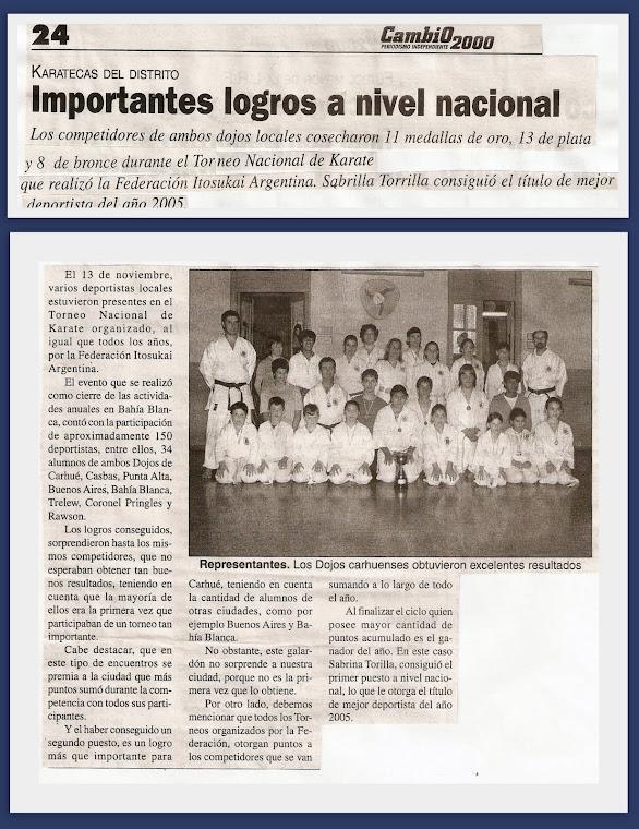 TORNEO NACIONAL DE LA FEDERACION ITOSU KAI ARGENTINA - BAHIA BLANCA 13/11/05