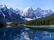 La natura incontaminata del Banff National Park sulle Montagne Rocciose (moraine lake)