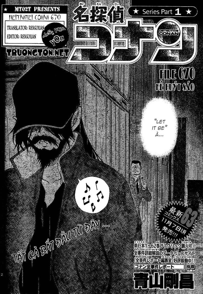 Detective Conan - Thám Tử Lừng Danh Conan chap 670 page 2 - IZTruyenTranh.com