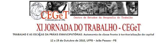 XI JORNADA DO TRABALHO - CEGeT