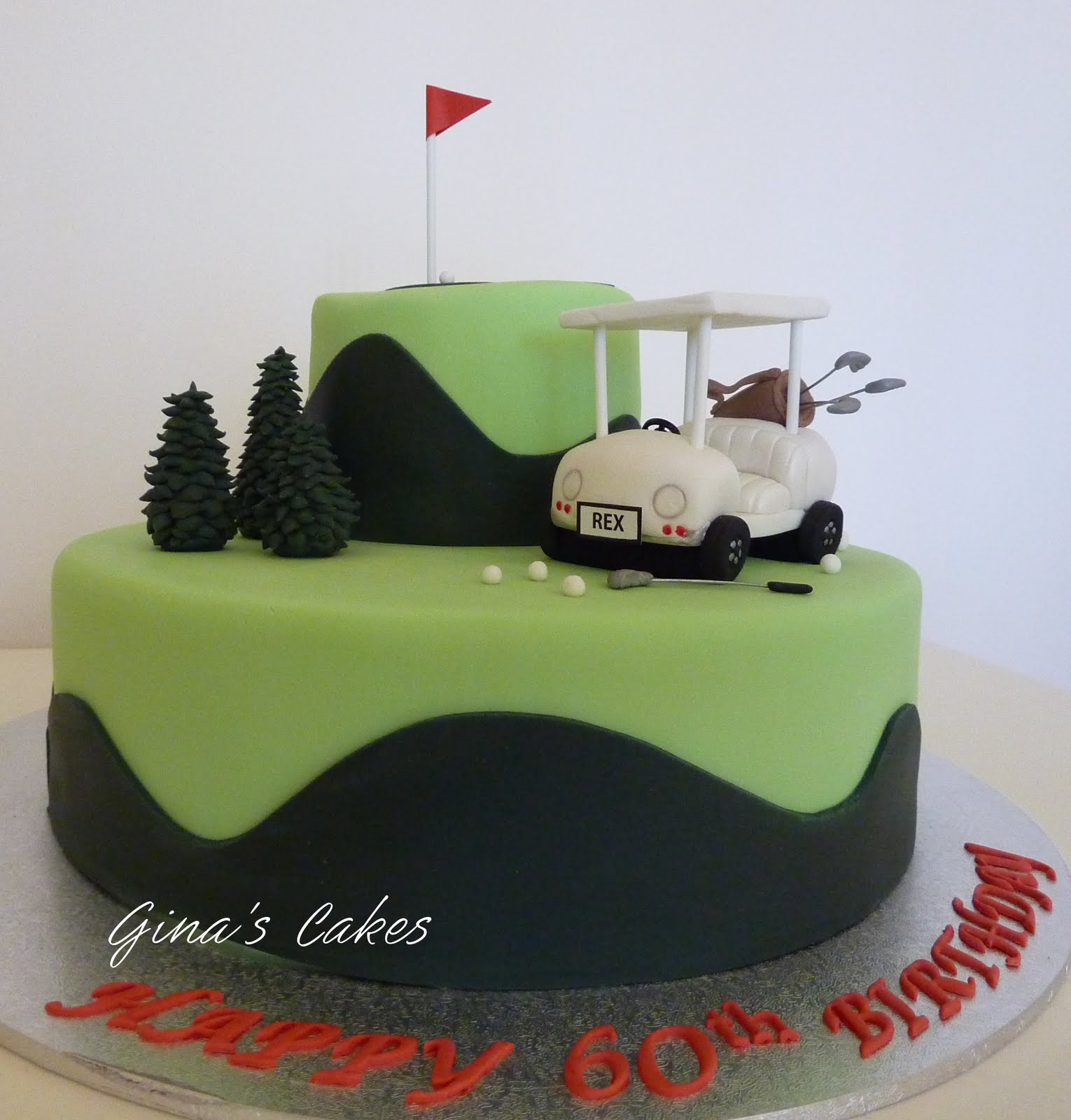 Top That Golf Birthday Cake