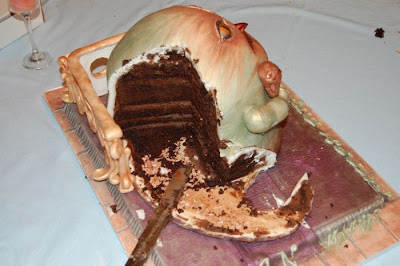 Amazing Jabba Shaped Cake