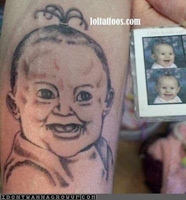 Baby Portrait Tattoos Went Wrong