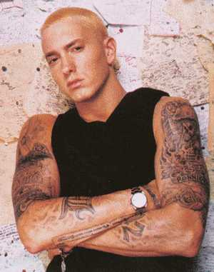 Celebrities Tattoo-Eminem