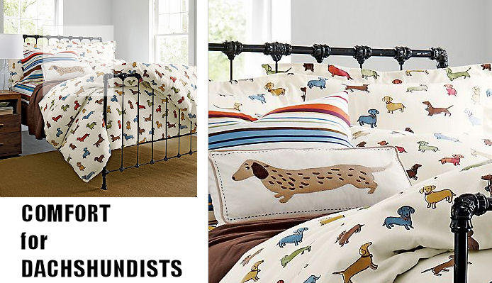 Wiener Dog Bed Sheets