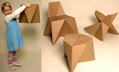 Mueble de cartón para niños DIY