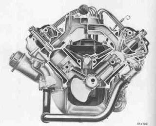 Cut Away On Yamaha V Twin Engine