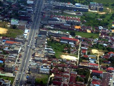Pekanbaru street Photo from air