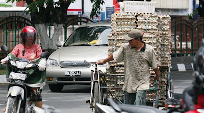 Eggs Carrier - Riau People in Work