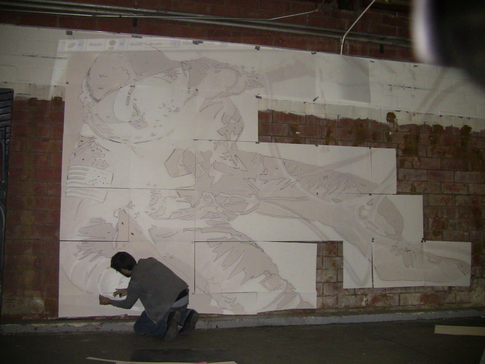 ... Wall Mural Projector La Mural Front Tumble Vision Uses A Projector To A  Stencil For The ... Part 53