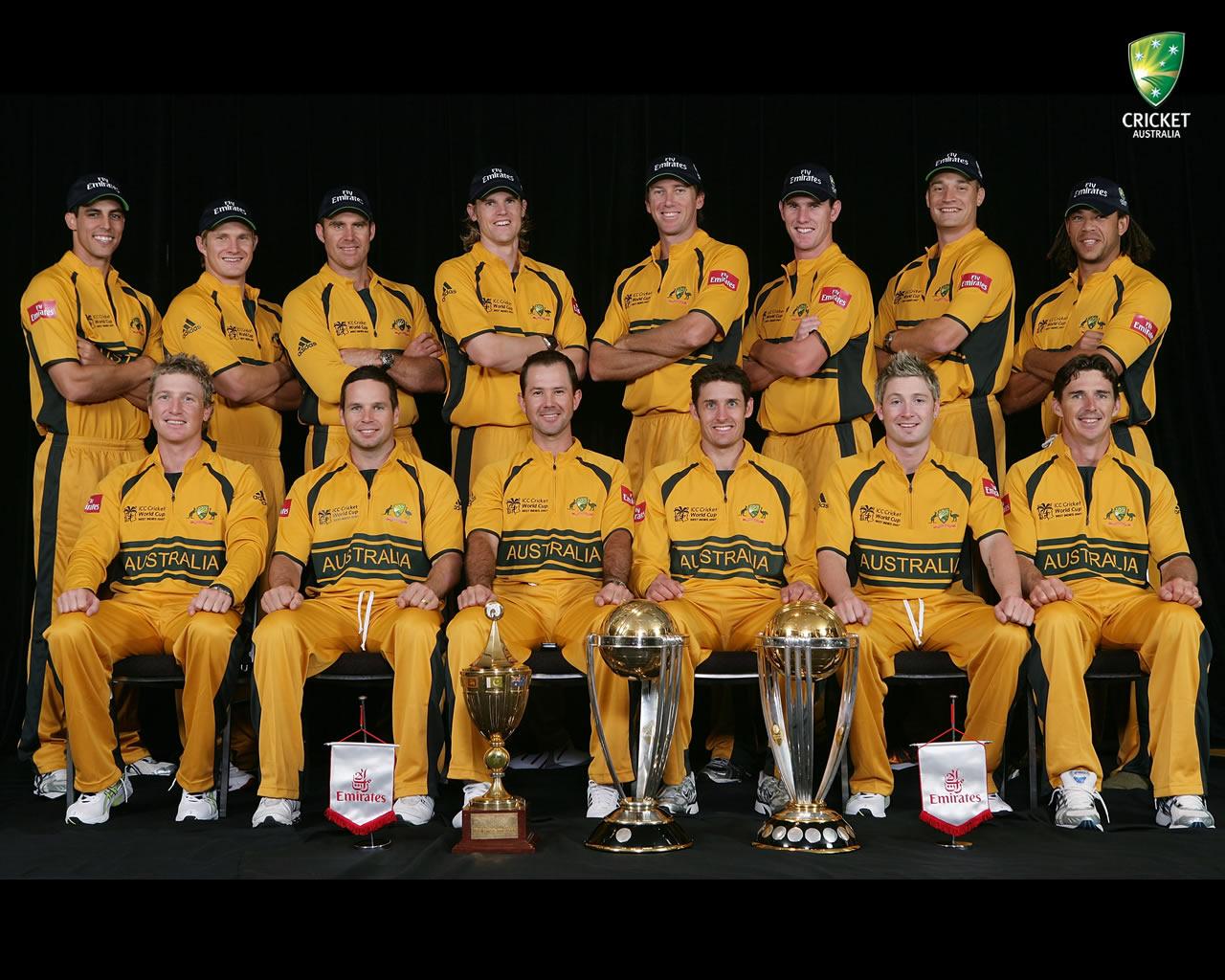 Australia Cricket Team Group Photo